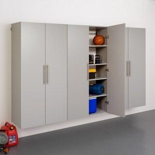 3-piece Stone Grey Storage Cabinet Set E