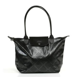Longchamp LM Metal Medium Black Tote Bag
