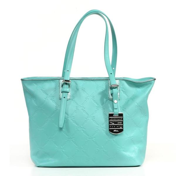 Longchamp LM Cuir Small Lagoon Tote