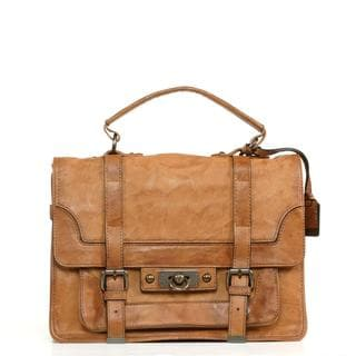 Frye Cameron Camel Leather Satchel