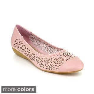 LASONIA M1323 Women's Punched Flats