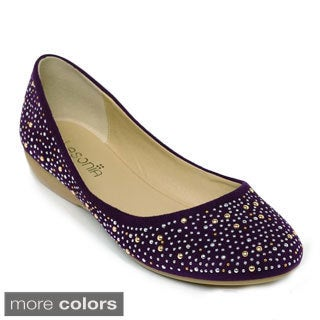LASONIA M1325 Women's Casual Studded Ballet Flats