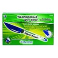 Dixon Ticonderoga White System Dry-Erase Markers, Fine Tip, Blue Ink, Pack of 12