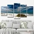 Bruce Bain 'Silent Beach' 5-piece Set Canvas Wall Art