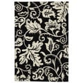 Christopher Knight Home Modern Highlights Botanical Black Area Rug (4' x 6')