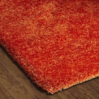 Christopher Knight Home Soft Shag Orange Crush Area Rug (8' x 10')