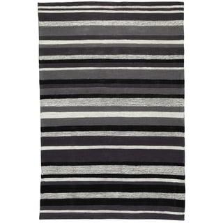 Christopher Knight Home Trio Lux Stripe Grey Area Rug (8' x 10')