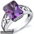 Oravo Sterling Silver Radiant Gemstone Ring