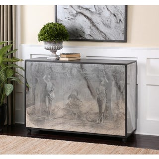 Antheia Ancient Stone Antiqued Mirror Console Table