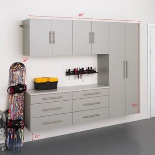 Stone Grey Storage 5-piece Cabinet Set H