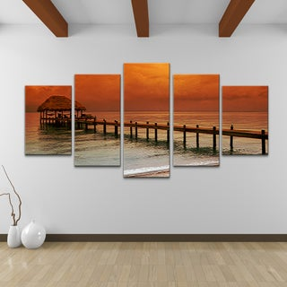 Bruce Bain 'Belize Storm' 5-pieceSet Canvas Wall Art