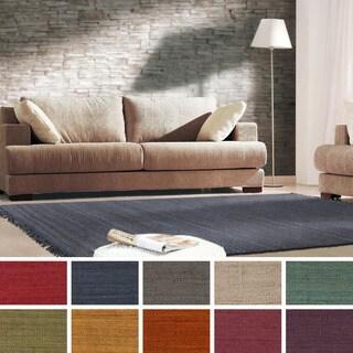 Hand-Woven Arizona Solid Jute Rug (3' x 5')
