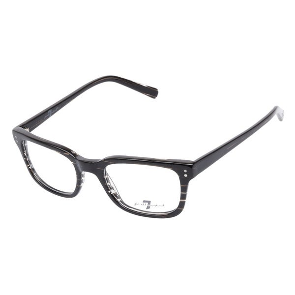 7 For All Mankind 756 Grey Stripe Prescription Eyeglasses