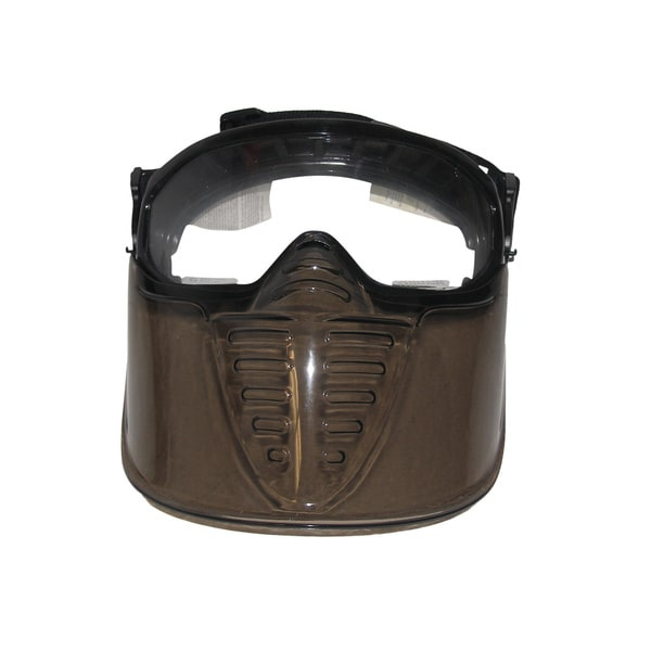 Airsoft Softair Deluxe Black Single Pane Goggles/ Mask System