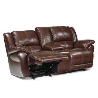 Signature Designs by Ashley Lenoris Coffee Reclining Loveseat with Console