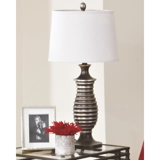 Signature Designs by Ashley Rory Antique Silvertone Metal Table Lamp (Set of 2)