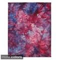 Multi Color Hand-loomed Geometric Tie Dye Wool Rug (5' x 8')
