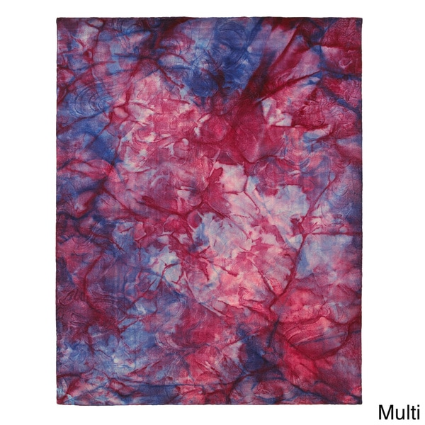LNR Home Tiedy Multi-colored Geometric Tie Dye Rug (5' X 7