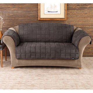 Sure Fit Deluxe Pet Mini Check Loveseat Cover