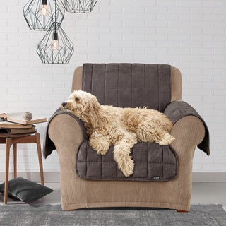 Sure Fit Deluxe Pet Mini Check Chair Cover