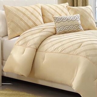 Pisces Metropolis 5-peice Yellow Comforter Set