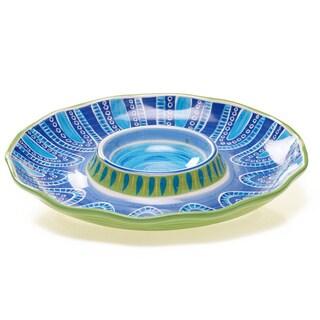 Certified International Tapas Chip and Dip Platter