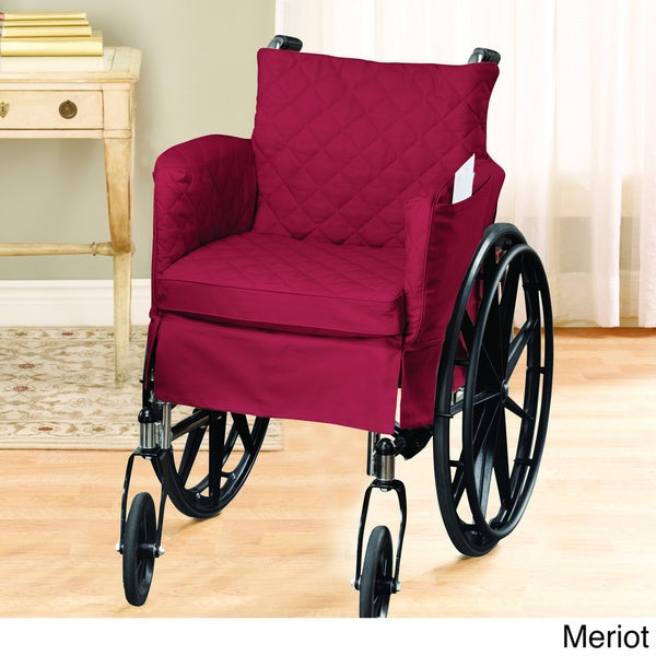Twill Supreme Tufted 18x16-inch Standard Wheelchair Slipcover