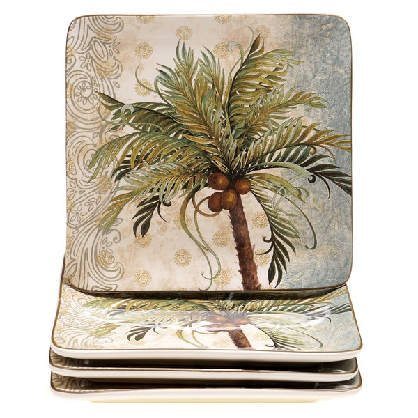 Hand-painted Key West 8.25-inch Ceramic Dessert Plate