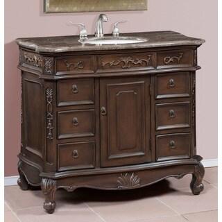Madison Antique Brown Cherry Bathroom Vanity Chest