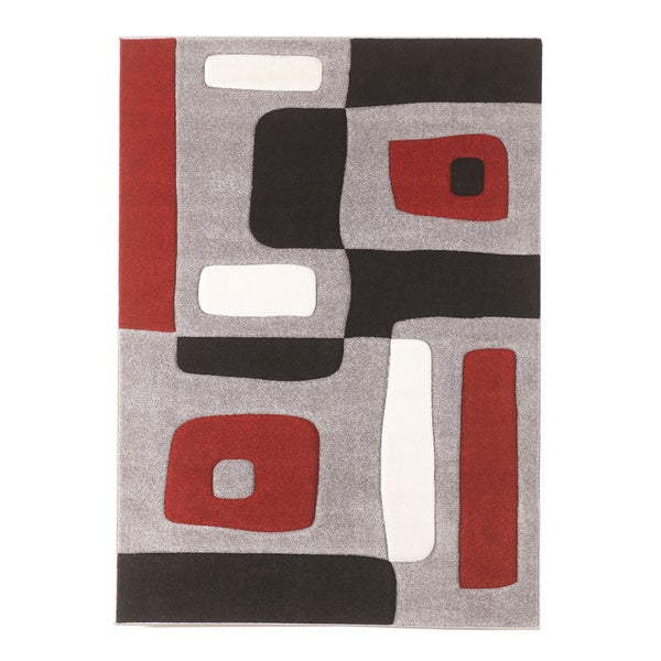 Signature Design by Ashley Geo Red Medium Rug (5'2 x 7'2)