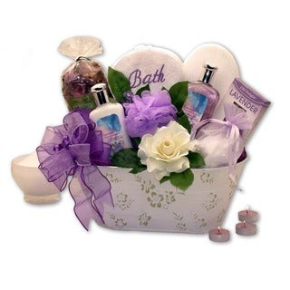 Tranquil Delights Lavender Bath & Body Gift Basket