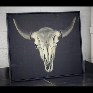 Phylum Design 'Bison Skull' Framed Art Print