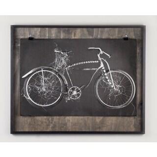 Phylum Design 'Green Bike' Framed Art Print