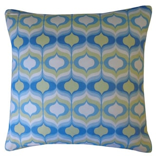 Copacabana Blue Geometric 20x20-inch Pillow