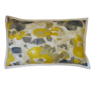 Watercolor Yellow Abstract 12x20-inch Pillow