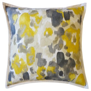 Watercolor Yellow Abstract 20x20-inch Pillow