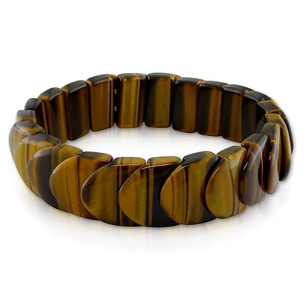 Miadora Cord Tiger's Eye Elastic Bracelet