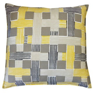 On The Move Yellow Weave 20x20-inch Pillow