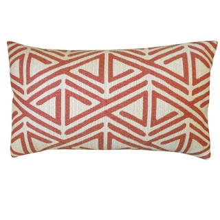 Zuhili Red Geometric 12x20-inch Pillow