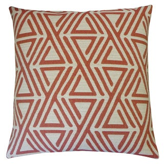 Zuhili Red Geometric 20x20-inch Pillow