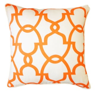 Dean Cream Orange Geometric 20x20-inch Pillow