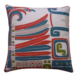 Kaleidoscope Red Abstract 20x20-inch Pillow