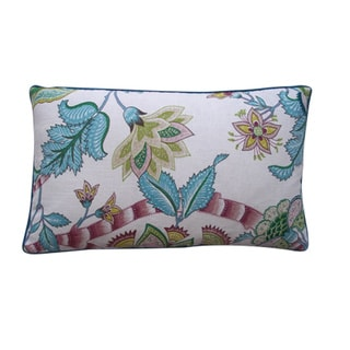 Lorax Teal Floral 12x20-inch Pillow