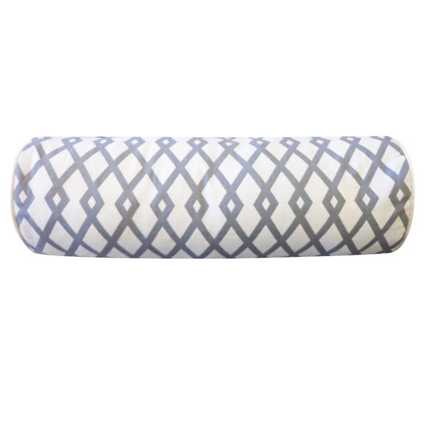 Moderna Grey Geometric 7x21-inch Pillow