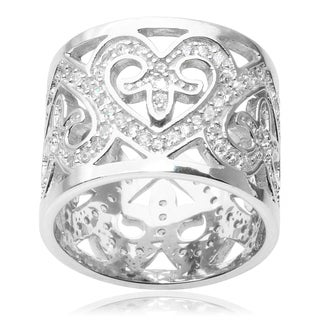 Tressa Collection Sterling Silver Cubic Zirconia Band (15MM)