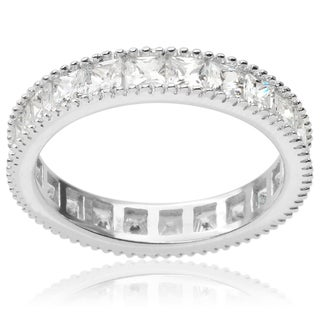 Tressa Collection Sterling Silver Cubic Zirconia Band (3mm)