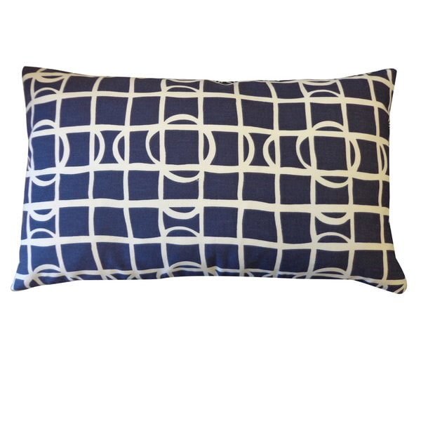 Planet Navy Geometric 12x20-inch Pillow