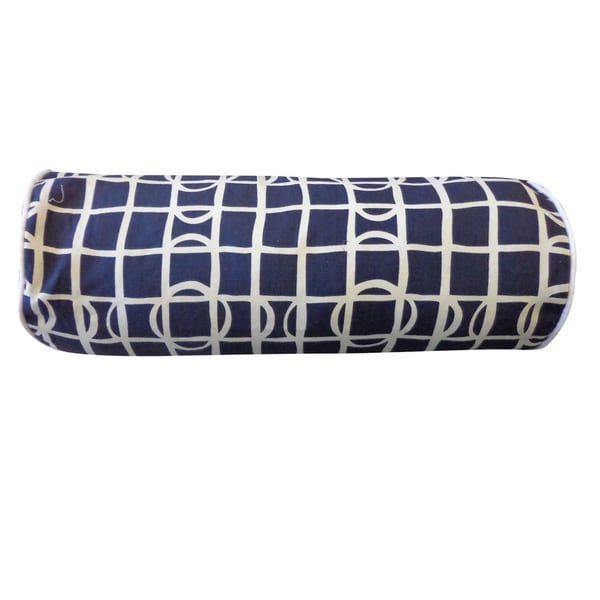Planet Navy Geometric 7x21-inch Pillow