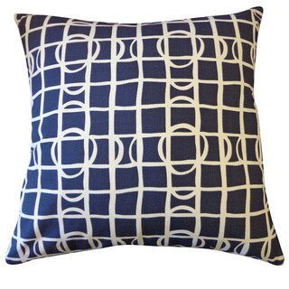 Planet Navy Geometric 20x20-inch Pillow