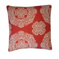 Medallion Rust Floral 20x20-inch Pillow